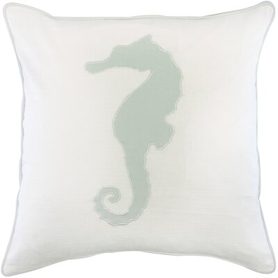 Dariell Seahorse Appliqued Cotton Throw Pillow