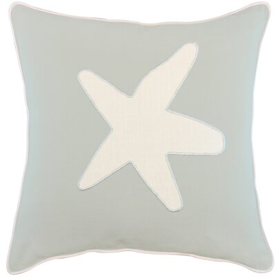 Dariell Starfish Appliqued Cotton Throw Pillow