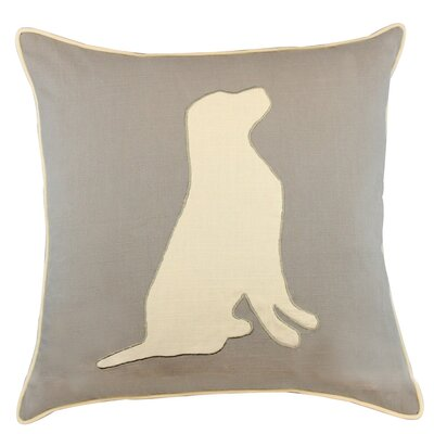 Kershaw Dog Appliqued Cotton Throw Pillow
