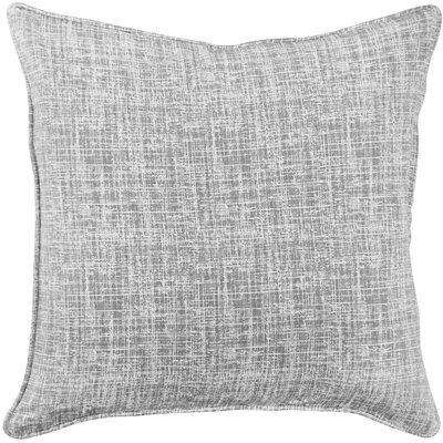 Eccles Textured Design Cotton Throw Pillow Color: Gray