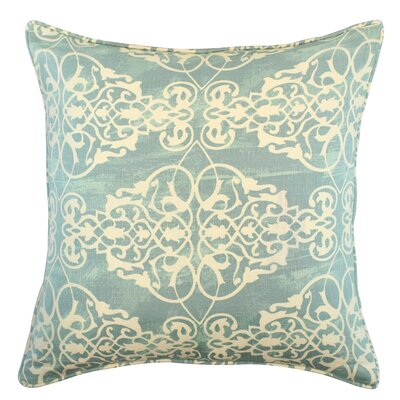 Kelson Scroll Cotton Throw Pillow Color: Spa