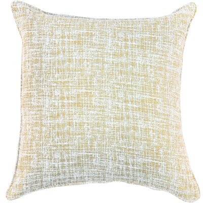 Eccles Textured Design Cotton Throw Pillow Color: Wheat