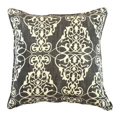 Kelson Scroll Cotton Throw Pillow Color: Gray