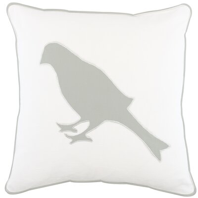 Heagy Bird Appliqued Cotton Throw Pillow