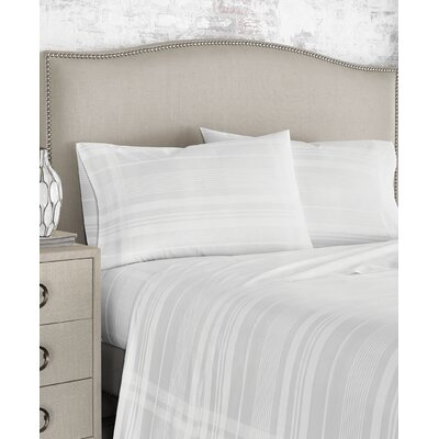 Textured Plaid 200 Thread Count 100% Cotton Sheet Set Size: Full