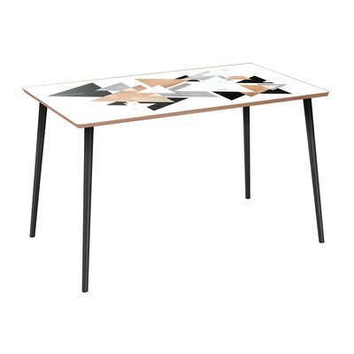 Artemas Dining Table Base Color: Black, Top Color: Walnut 7FD153F2397443619591AF0A35B0B53D