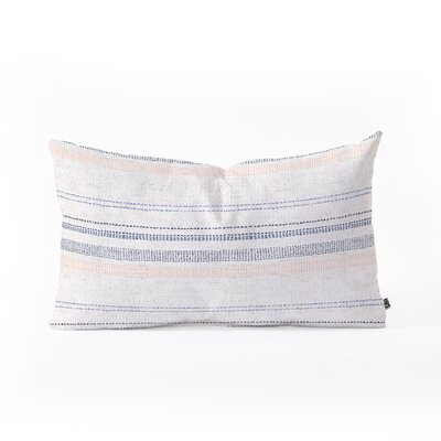 Holli Zollinger French Stripe Blush Lumbar Pillow Color: Purple/Orange