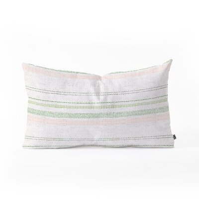 Holli Zollinger French Stripe Blush Lumbar Pillow Color: Pink/Green