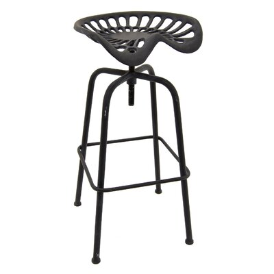 Mcginn Metal Adjustable Height Bar Stool