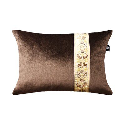 Cleve Luxury Luster Rose Velvet Pillow Cover Color: Brown