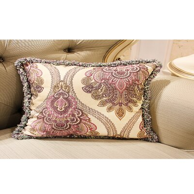 Donato European Embroidery Plush Edge Pillow Cover