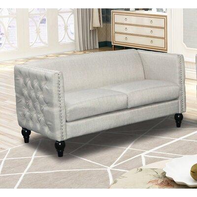 Annuziata Living Room Loveseat Upholstery: Beige