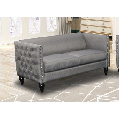 Annuziata Living Room Loveseat Upholstery: Gray