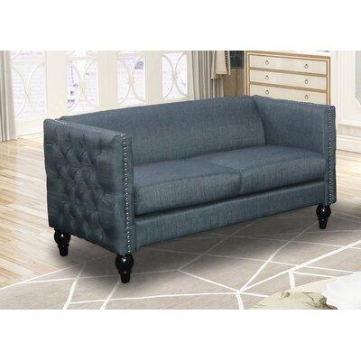 Annuziata Living Room Loveseat Upholstery: Blue