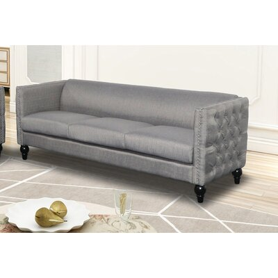 Annuziata Living Room Sofa Upholstery: Gray