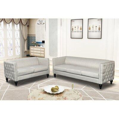 Annuziata 2 Piece Living Room Set Upholstery: Beige