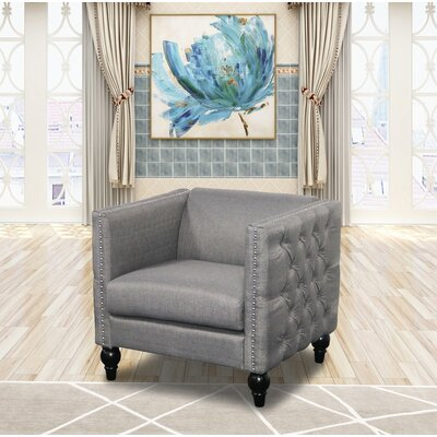 Annuziata Living Room Armchair Upholstery: Gray