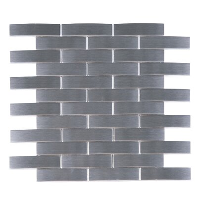 SAMPLE - Bridge Metal Mosaic Tile in Gray
