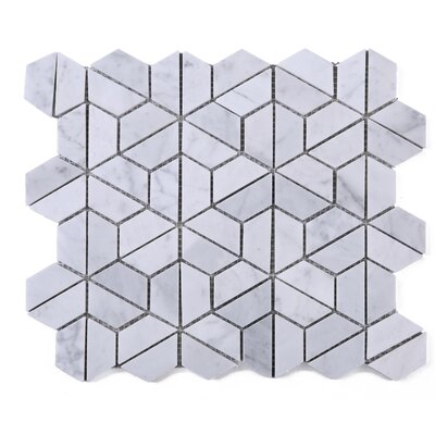 SAMPLE - Fidget Spinner Marble Mosaic Tile in White