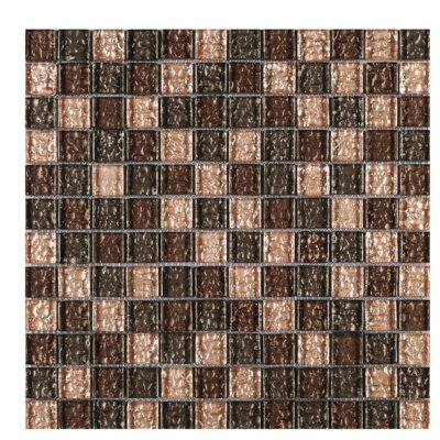 SAMPLE - Shinny Glass Mosaic Tile in Brown