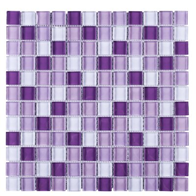 SAMPLE - Lover Mix Grid Glass Mosaic Tile in Purple