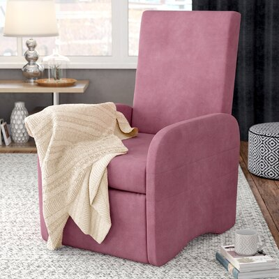 Bueno Modern Compact Manual Recliner Upholstery: Pink