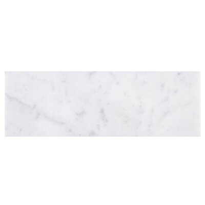 SAMPLE - Marble Subway Tile in White