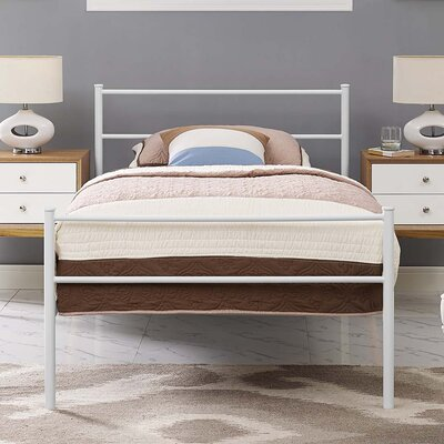 Donnellan Queen Platform Bed Color: White, Size: Queen