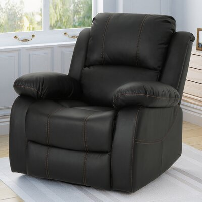 Eady Manual Glider Recliner Upholstery: Black