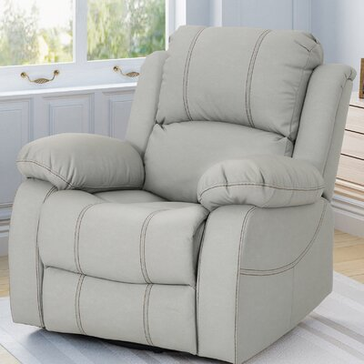 Eady Manual Glider Recliner Upholstery: Light Gray