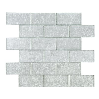 Galaxy 2 x 4 Glass Mosaic Tile in Gray