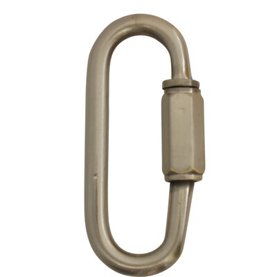 Quick Link Chain Break Size: 2.24 H x 0.86 W x 0.19 D, Finish: Satin Nickel