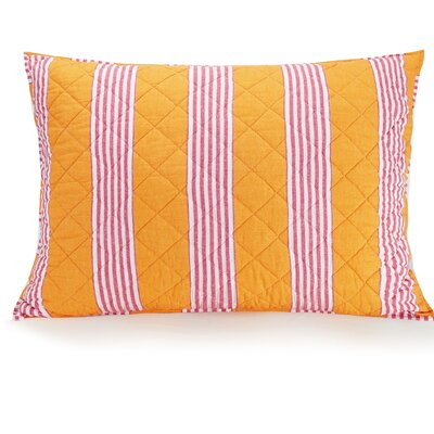 Louisa Textured Stripe Quilted Sham Size: King