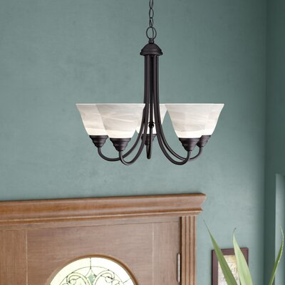 Eichelberger 5-Light Shaded Chandelier Finish: Oil Rubbed Bronze