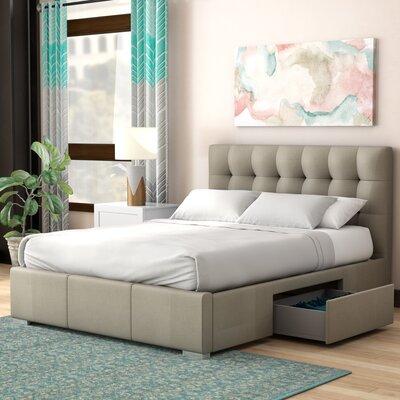 Alejo Upholstered Storage Platform Bed Size: Queen, Color: Grey