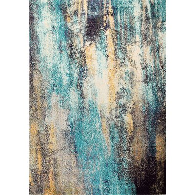 Casba Scatter Gray/Blue Area Rug Rug Size: Rectangle 74 x 106