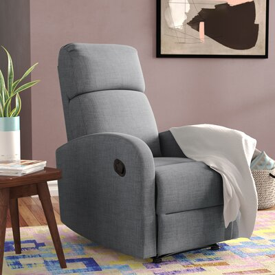 Dunkley Manual Recliner Color: Charcoal