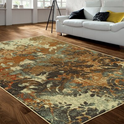 Riemann Superior White/Brown Area Rug Rug Size: Rectangle 8 x 10