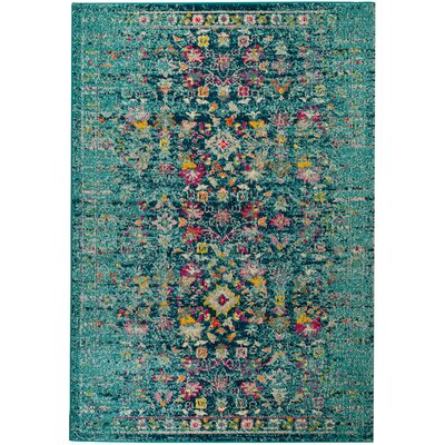 Casba Scatter Teal Area Rug Rug Size: Rectangle 110 x 211