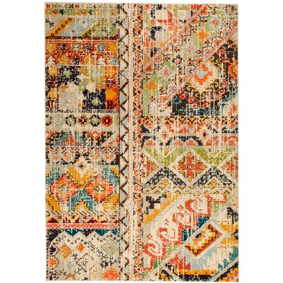 Casba Scatter Yellow/Orange Area Rug Rug Size: Rectangle 110 x 211