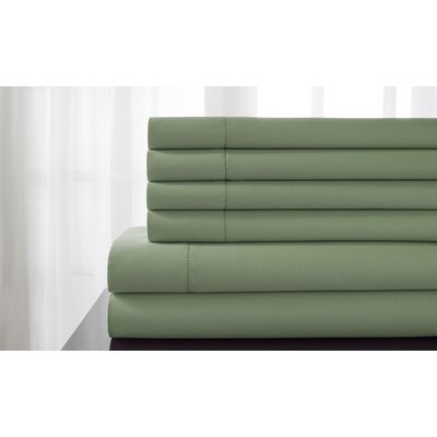 Tamalenus Hemstitch Solid Bonus 600 Thread Count Percale Sheet Set Color: Pear, Size: Queen