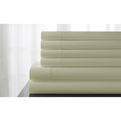 Tamalenus Hemstitch Solid Bonus 600 Thread Count Percale Sheet Set Color: Ivory, Size: Queen
