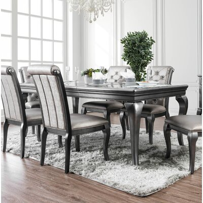 Lane Extendable Dining Table Color: Champagne