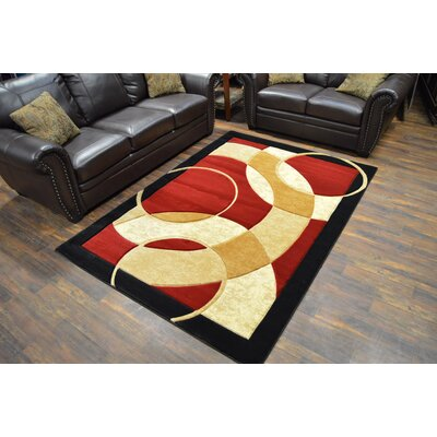 Mccampbell 3D Abstract Burgundy/Beige Area Rug