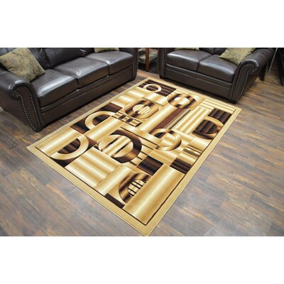Mccampbell 3D Abstract Beige Area Rug