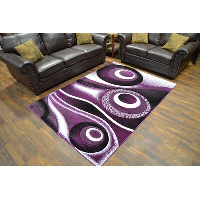 Mccampbell 3D Abstract Purple/Black Area Rug