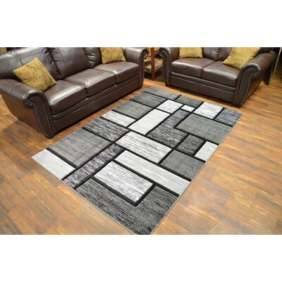 Mccampbell 3D Abstract Gray Area Rug