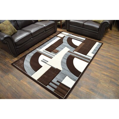 Mccampbell 3D Brown/Gray Area Rug