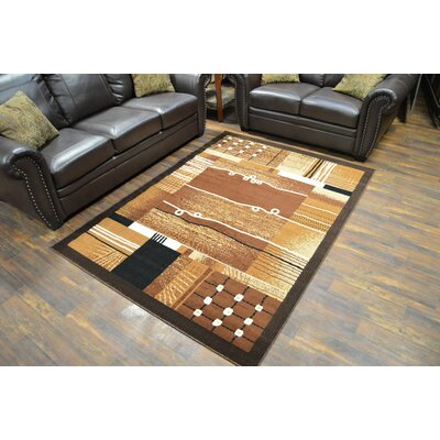 Traer Abstract Chocolate Area Rug