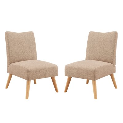Waldrup Slipper Chair Upholstery: Beige